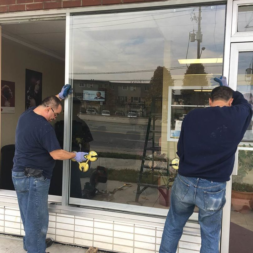 replacing store front glass